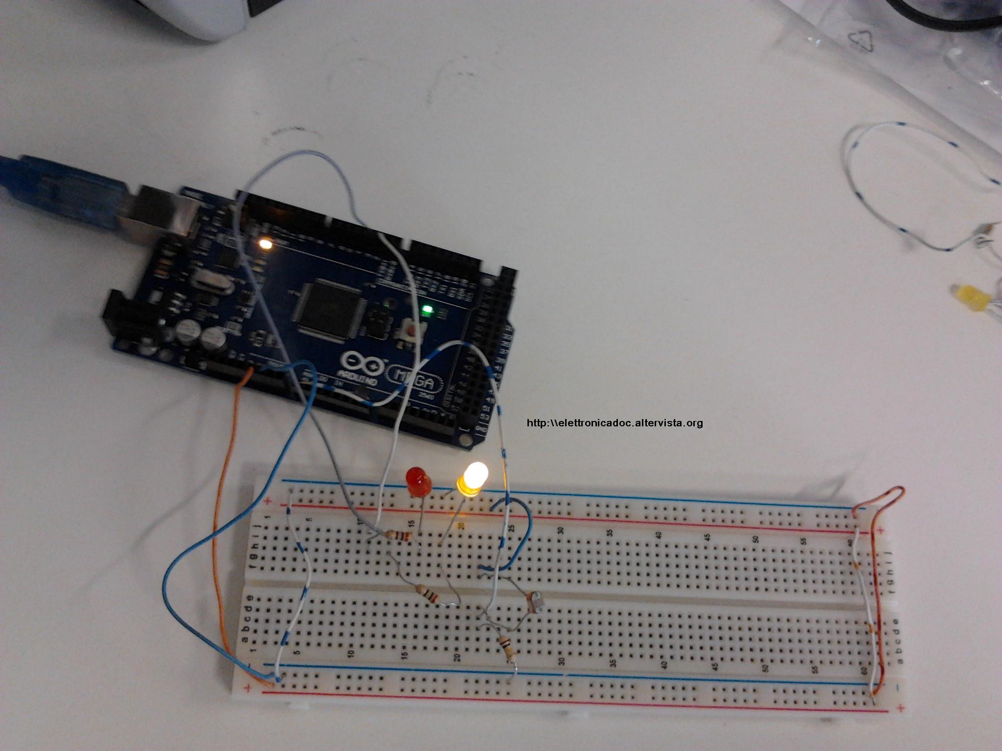 Foto Arduino con fotoresistenza