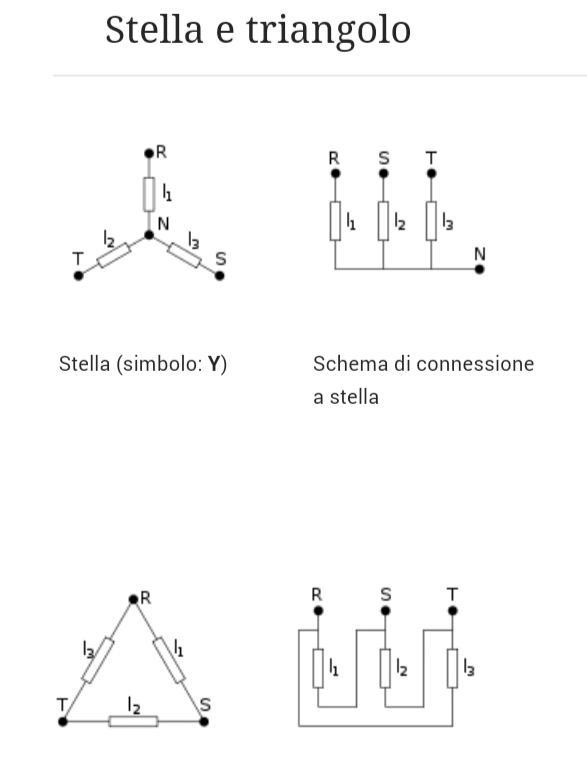 Schema Cablaggio Stella Triangolo : Sistema trifase