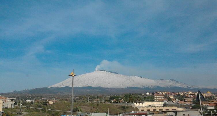 Neve sull'Etna