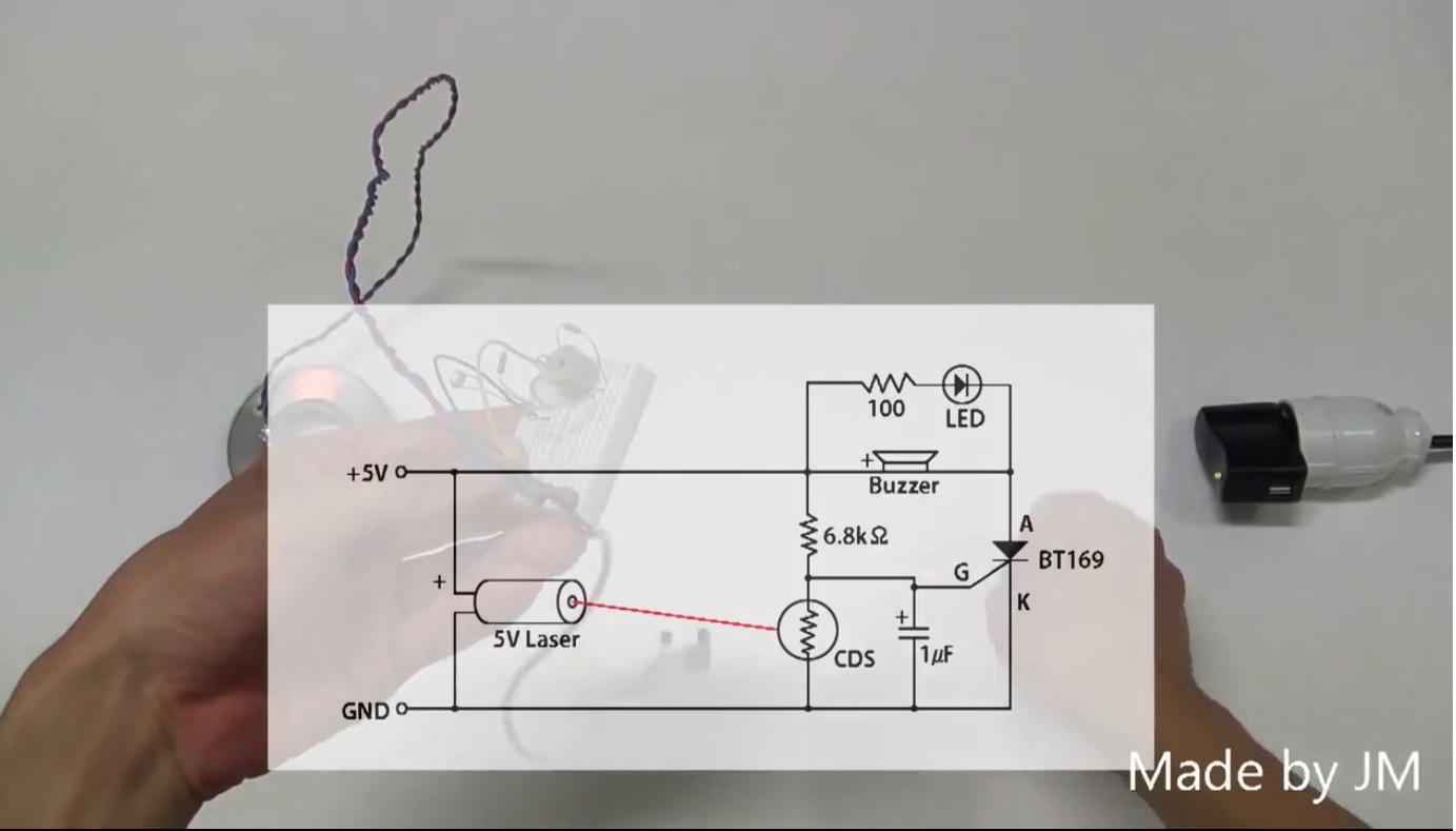 sistema con laser-buzzer