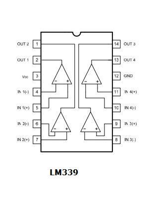 Piedinatura LM339