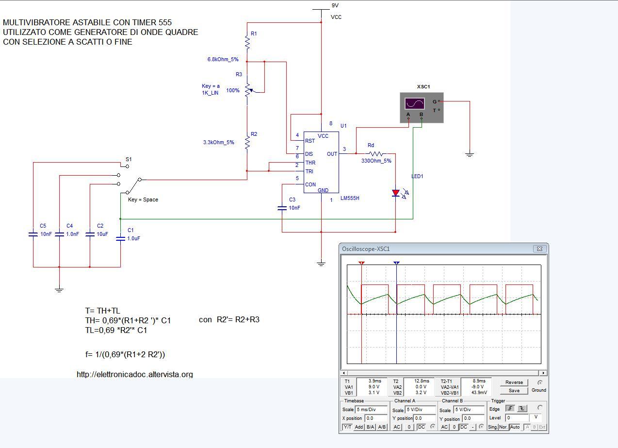 Circuito Ne555 : Ne cd kit canali led luce light diy kit scheda