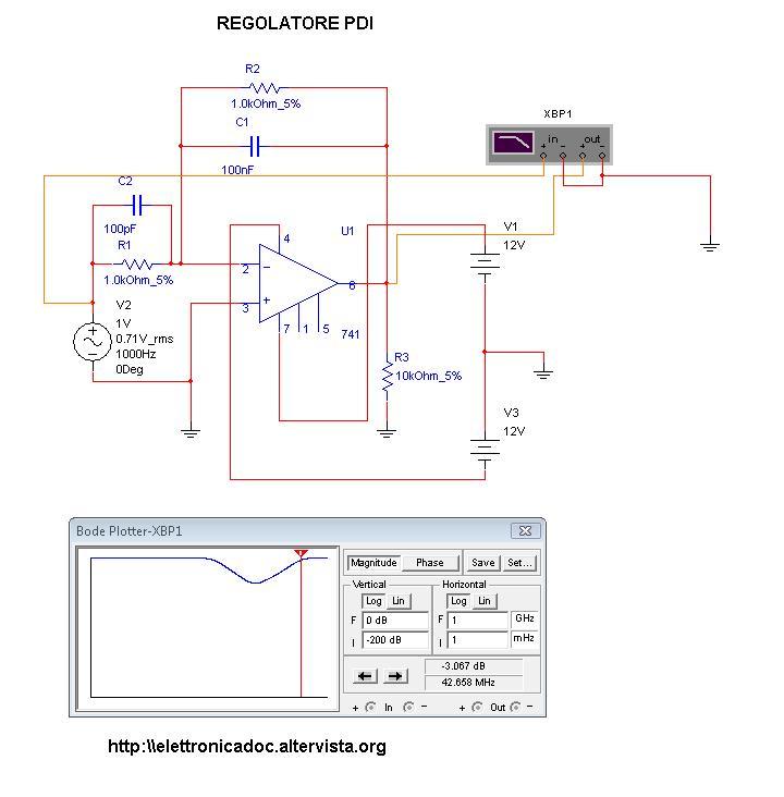 Regolatore PDI schema elettrico