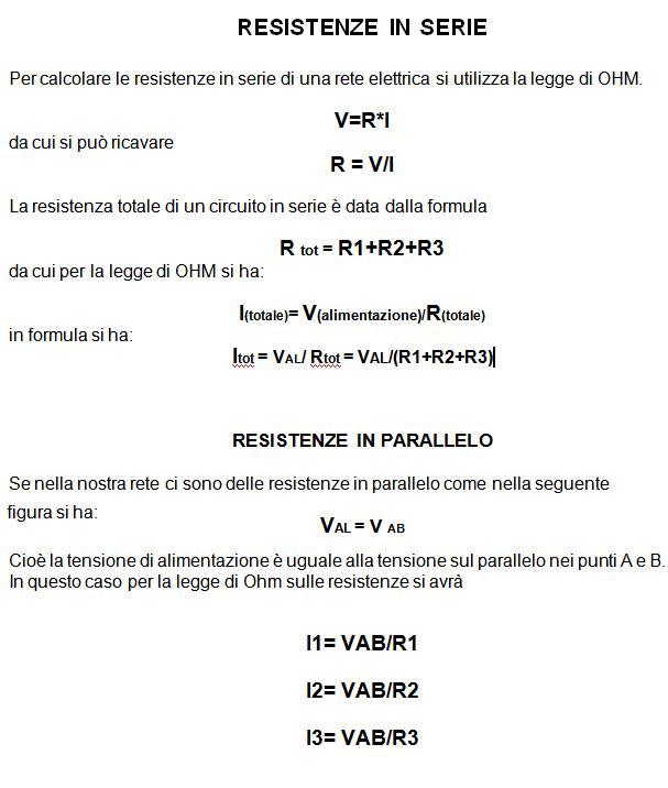 Resistenze formule