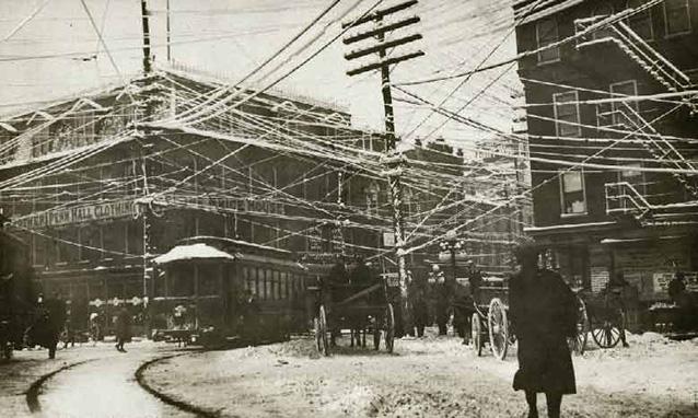 New York 1887 fili del telefono